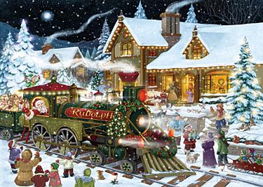 Whistle Stop Christmas Christmas Card