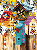 Fall Birdhouses Jigsaw Puzzle