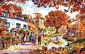 Village in Autumn Jigsaw Puzzle