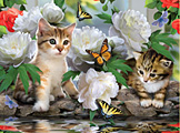 Among the Peonies Jigsaw Puzzle