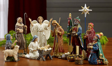 Real Life Nativity 14 Piece Set
