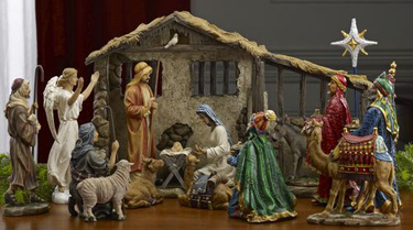 Real Life Nativity 19 Piece Set