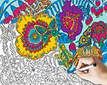Garden Coloring Puzzle