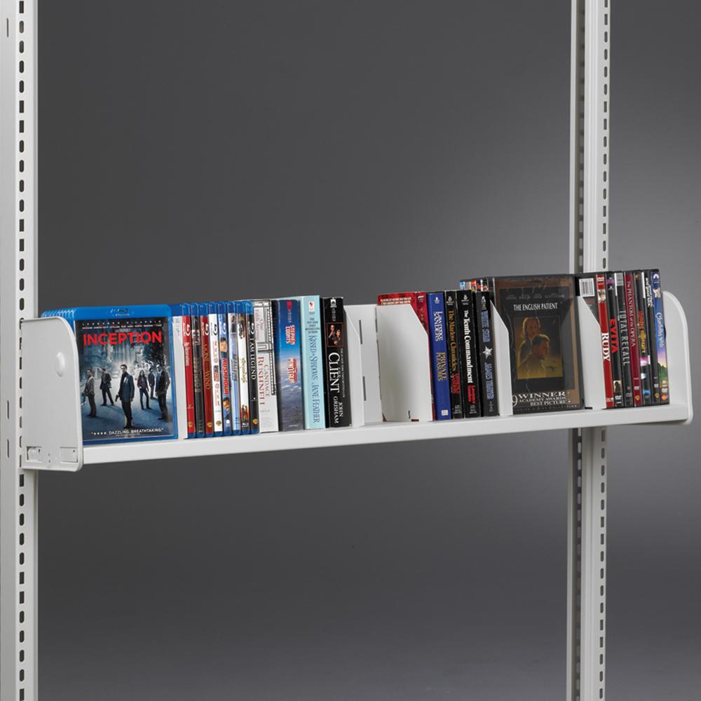 estey® Steel Cantilever DVD/Video/Paperback Shelves
