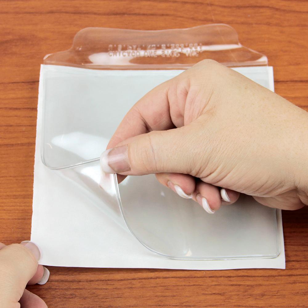 12-gauge Self-Adhesive Clear Vinyl Pouches -  10/Pkg