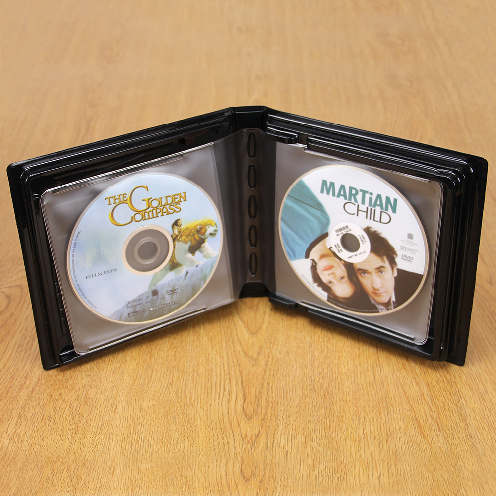 CD-DVD Album w/ Unlined Side - Loading Pages - 4 Disc