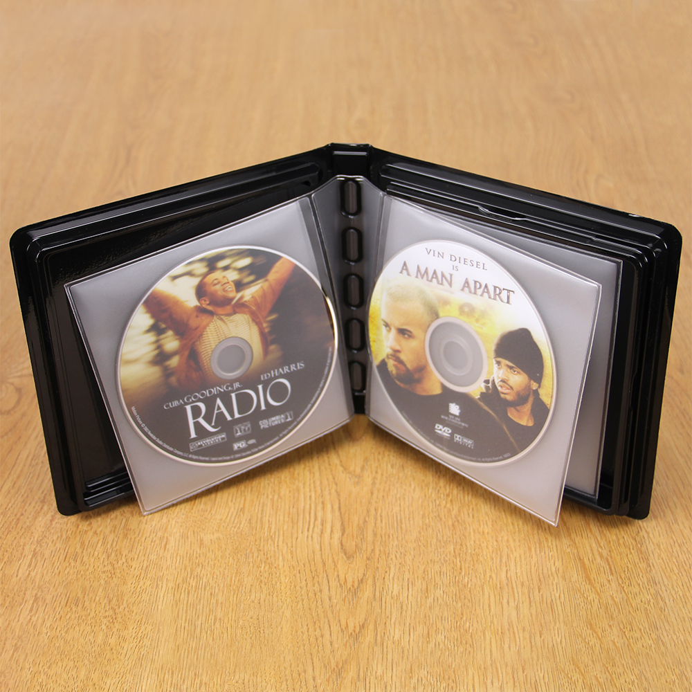 CD-DVD Album w/ Unlined Side - Loading Pages - 6 Disc
