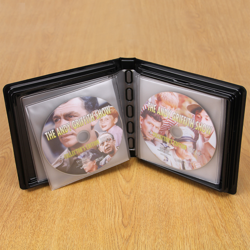 CD-DVD Album w/ Unlined Side  -Loading Pages - 10 Disc