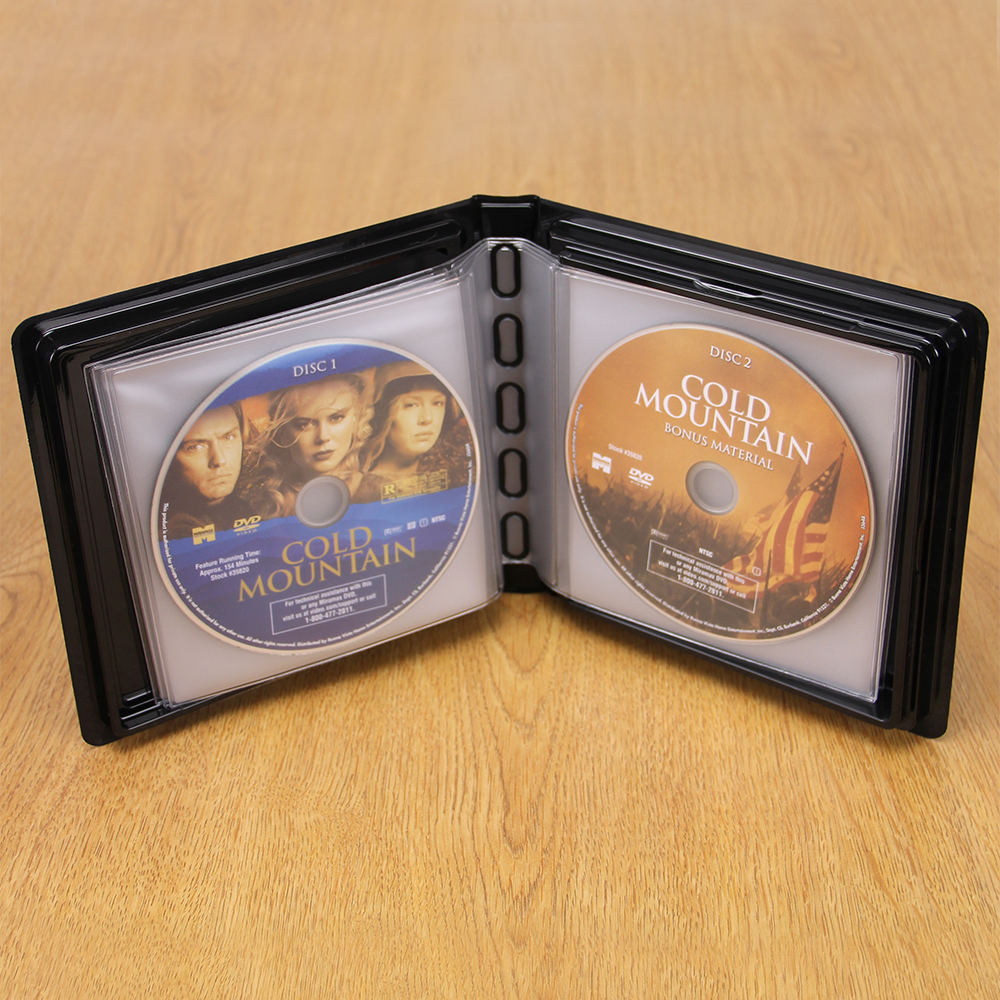CD-DVD Album w/ Unlined Side - Loading Pages - 12 Disc