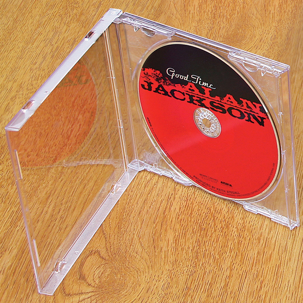CD-DVD Jewel Case - 1 Disc Case with Black or Clear Insert