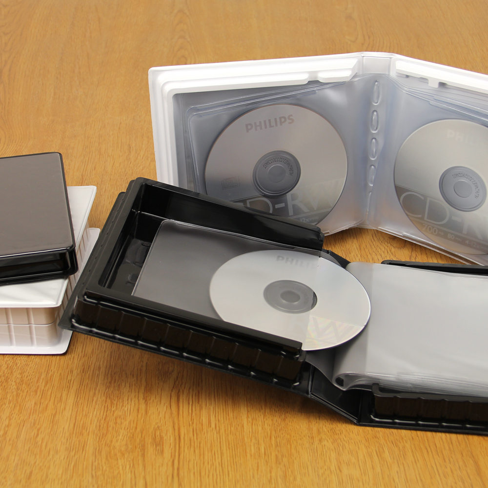 CD-DVD Albums w/ Unlined Side-Loading Pages