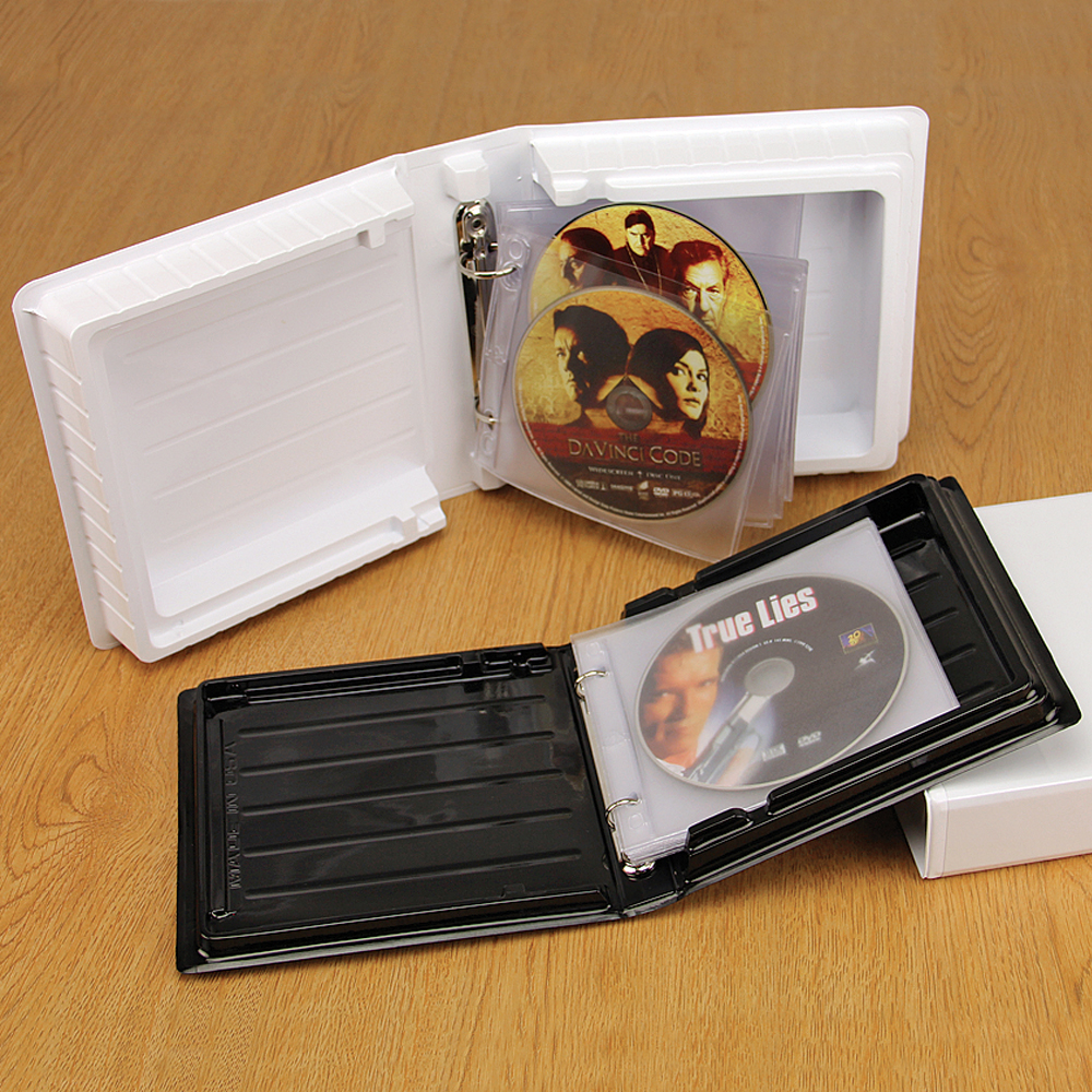 CD-DVD Binder Albums with Unlined Pages