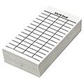Date Due Slips - Media 4-Column, Full Permanent Adhesive, 4 in.H x 2 in.W, 100/Pkg