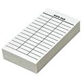 Date Due Slips - Media 3-Column, Full Permanent Adhesive, 4 in.H x 2 in.W, 100/Pkg