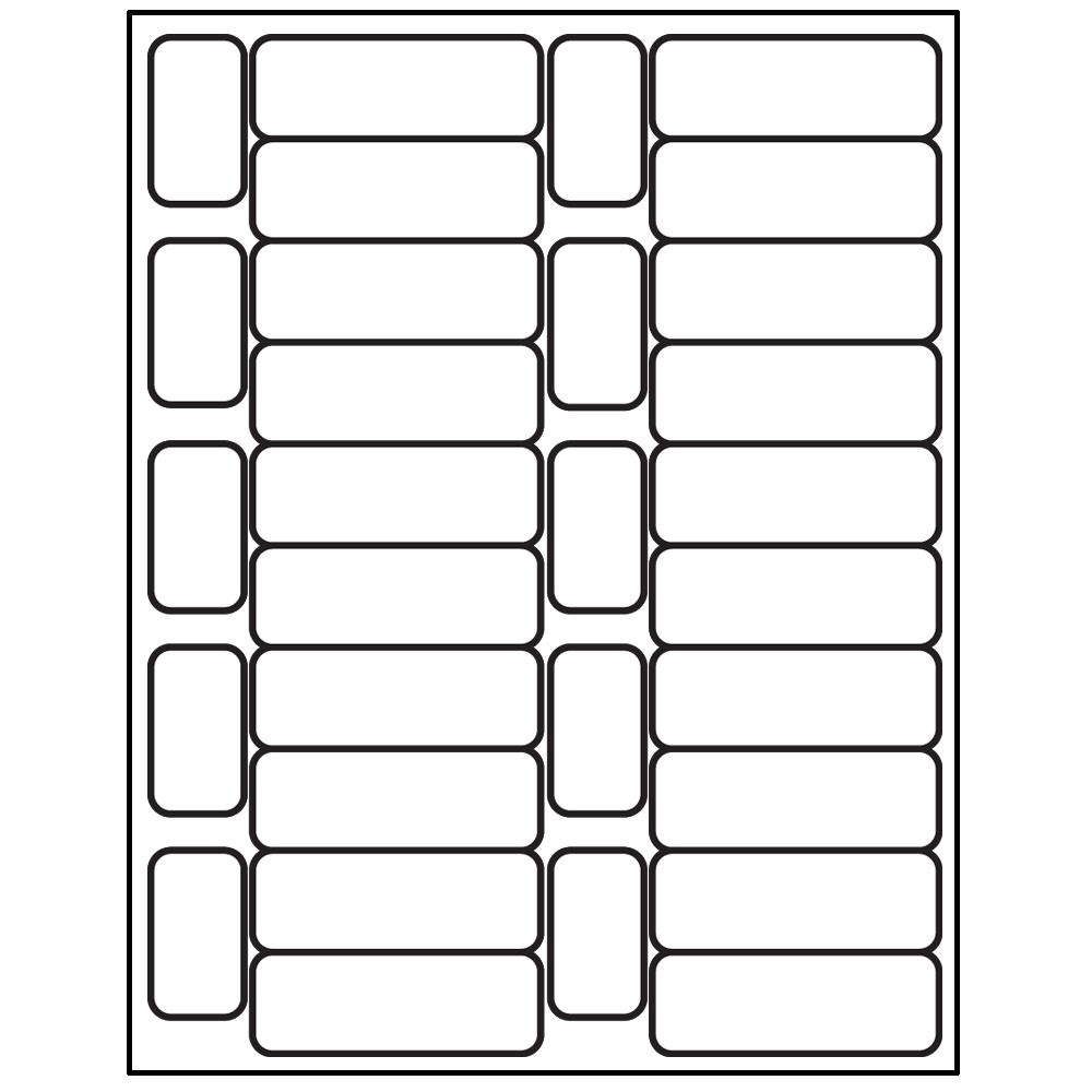 Laser/Inkjet Spine & Processing Label Set - 1-1/2 in. H x 29/32 in. W