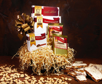 Gift Basket of Toffee and Nuts