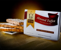 1 lb Milk Chocolate Almond Toffee Box