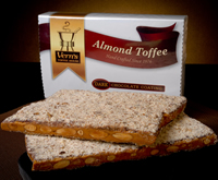1 lb Dark Chocolate Almond Toffee Box