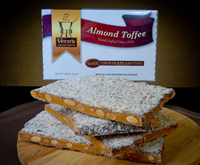 2 lb Dark Chocolate Almond Toffee Box