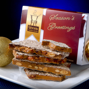 2 lb Seasons Greetings Toffee Box Milk Choc
