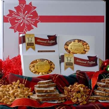 Gift Assortment of Toffee, Mixed Nuts & Cashews--BACKORDERED, Available to ship 11/25/19