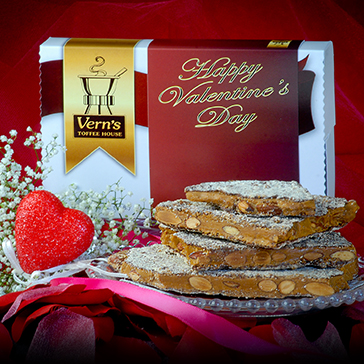 1 lb Toffee Valentine's Day Box Dark Chocolate