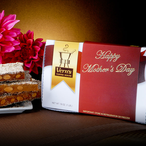 1 lb Happy Mother's Day Toffee Box Milk Chocolate
