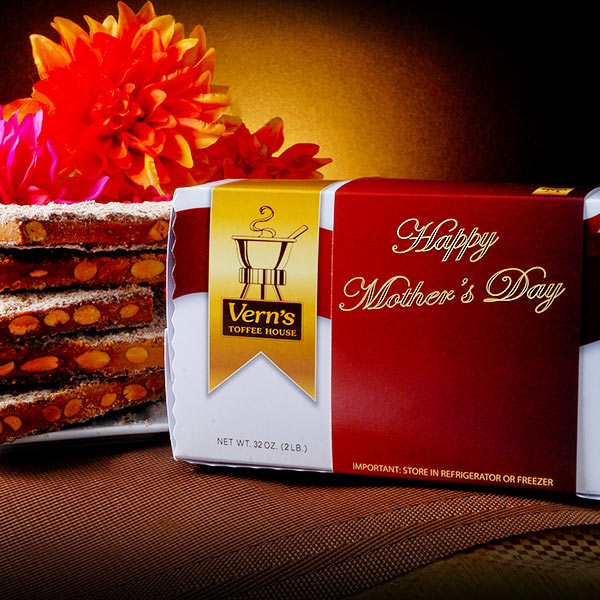 2 lb Toffee Mother's Day Box Dark Chocolate