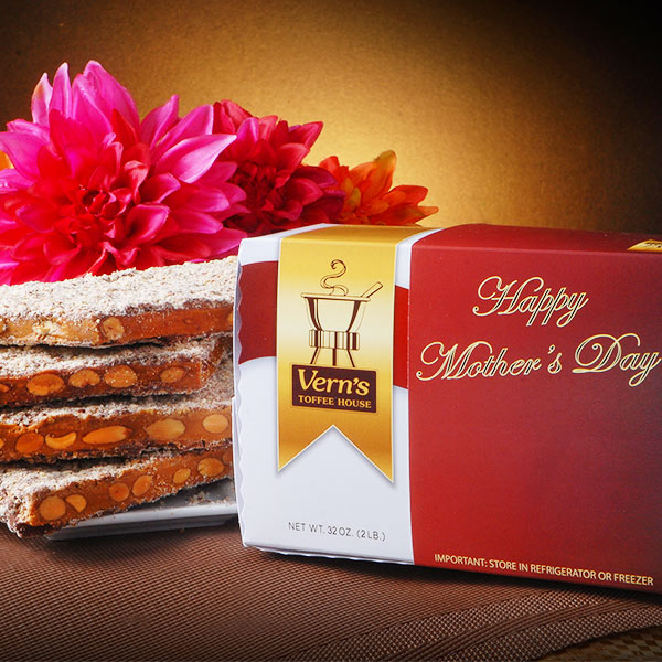 2 lb Toffee Mother's Day Box Milk Chocolate