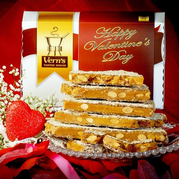 2 lb Toffee Valentine's Day Box Dark Chocolate