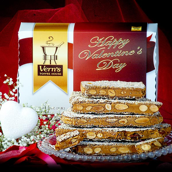 2 lb Toffee Valentine's Day Box Milk Chocolate