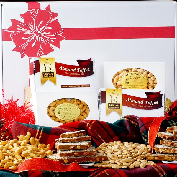 Gift Assortment of Toffee, Almonds & Cashews