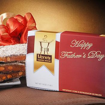 1 lb Happy Father's Day Toffee Box Dark Chocolate