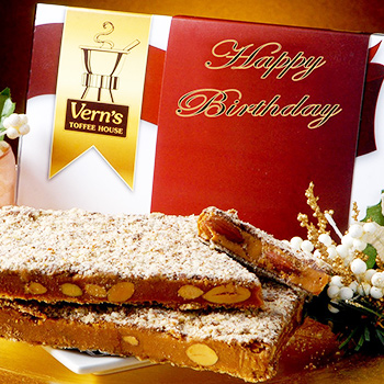 1 lb Happy Birthday Toffee Box Milk Chocolate