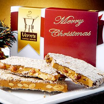 1 lb Merry Christmas Toffee Box Milk Chocolate