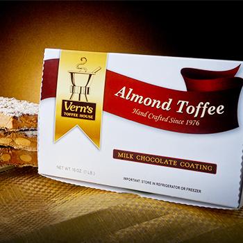 1 lb Milk Chocolate Almond Toffee Box