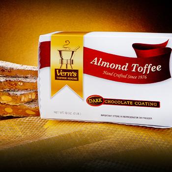 2 lb Dark Chocolate Almond Toffee Box