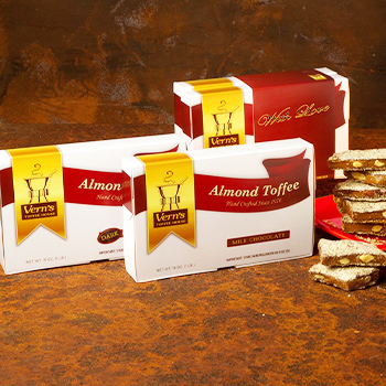 2 lb Almond Toffee Duo with With Love band