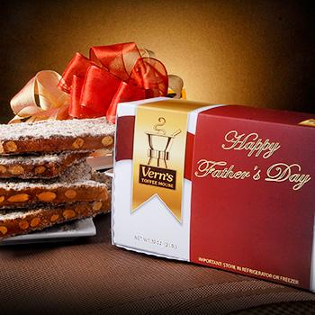 2 lb Happy Father's Day Toffee Box Dark Chocolate