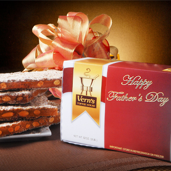 2 lb Happy Father's Day Toffee Box Milk Chocolate
