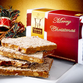 2 lb Merry Christmas Toffee Box Milk Chocolate