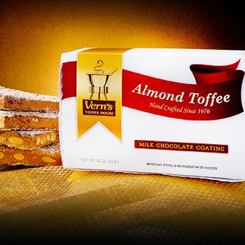 2 lb Milk Chocolate Almond Toffee Box
