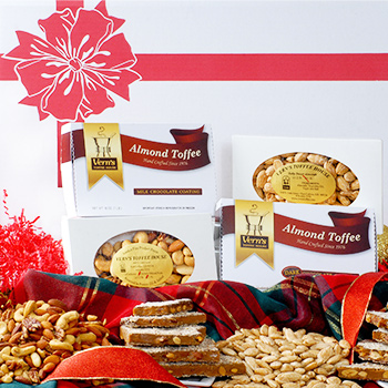 Gift Assortment of Toffee, Almonds & Mixed Nuts