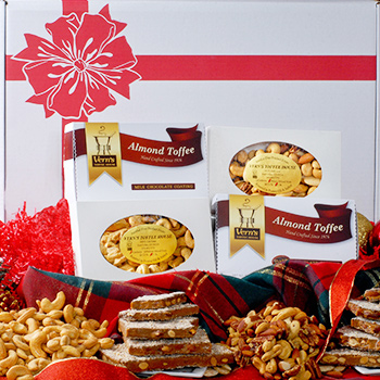 Gift Assortment of Toffee, Mixed Nuts & Cashews