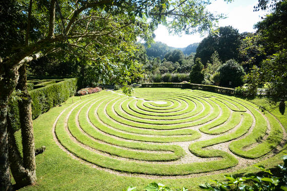 Labirinto no jardim