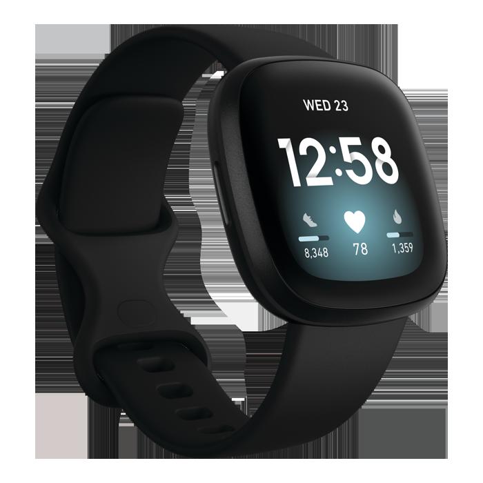 Fitbit Versa 3 (Black/Black Aluminum)