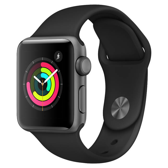Apple Series 3 - Space Gray with Black Sport Band – 38mm