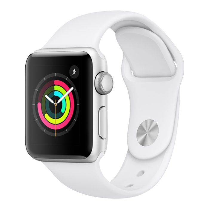 Apple Series 3 - Silver with White Sport Band – 38mm