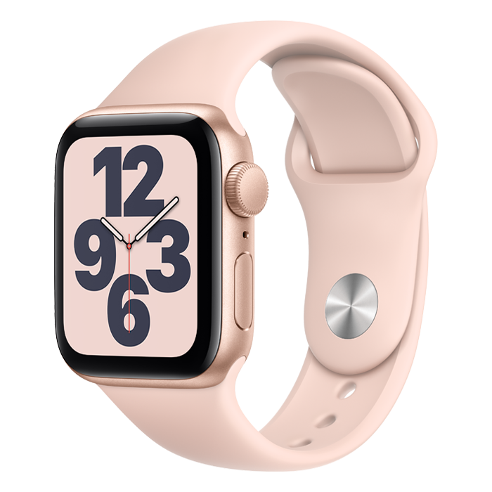 Apple Watch SE GPS 44mm Gold Case w/ Pink Sand Sport Band