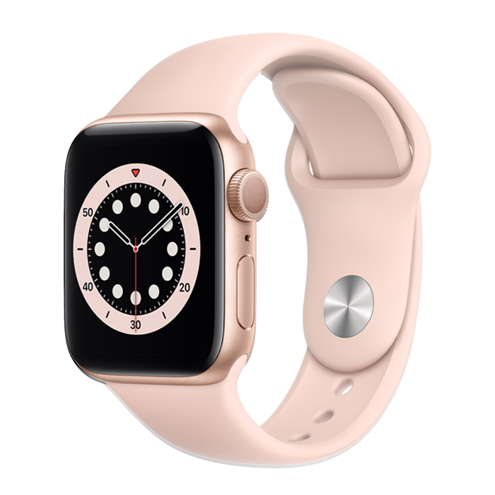Apple Series 6 GPS+ Cell 40mm Gold w/Pink Sand Sport Band